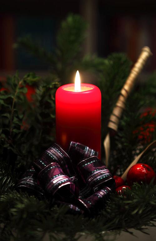 Свеча. Рождественские венки
