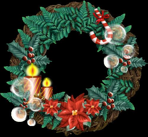 Рождественский венок со свечами. Рождественские венки