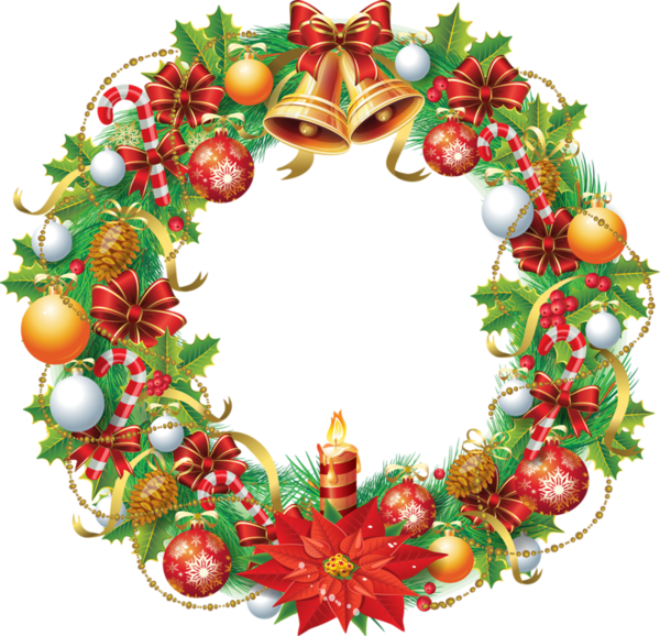 Рождественский венок png. Рождественские венки