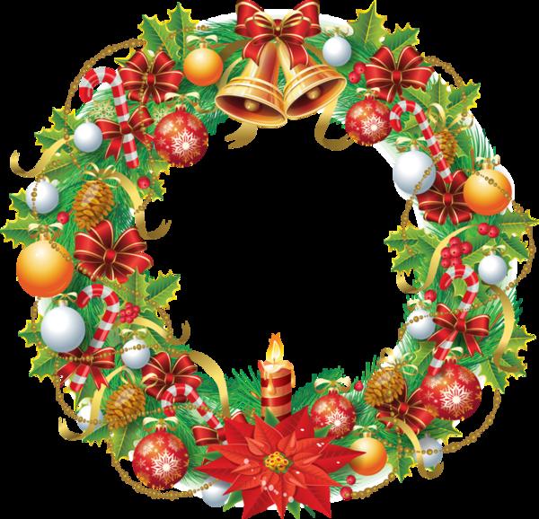 Рождественский венок png