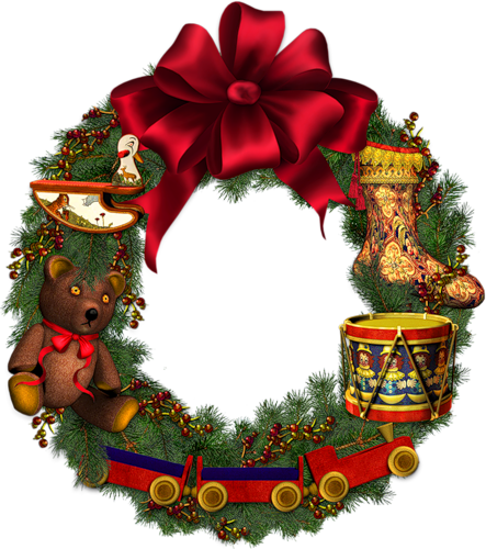 Рождественский венок детям. Рождественские венки