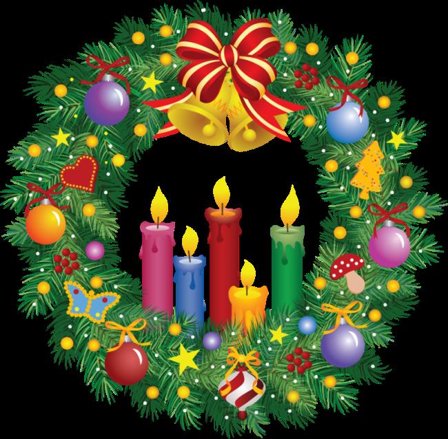 Картинки Рождественский венок Адвента