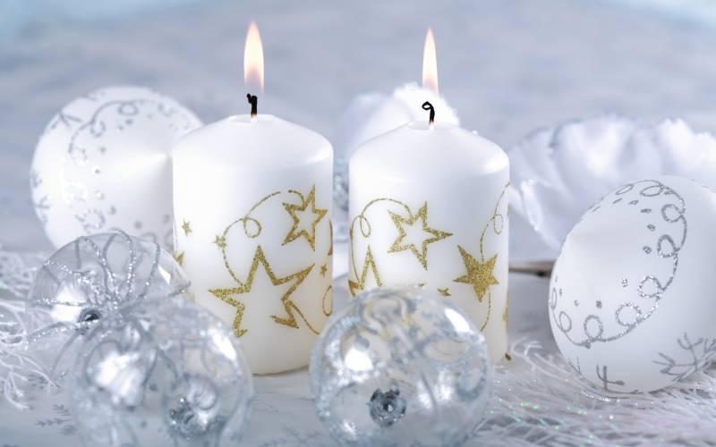 Рождественские свечи на рабочий стол