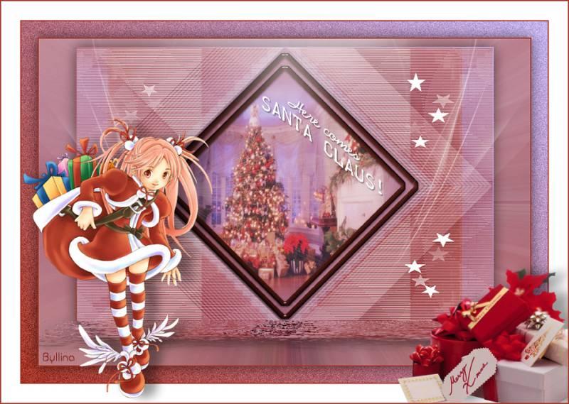 Аниме картинка с рождеством. Картинки на Рождество