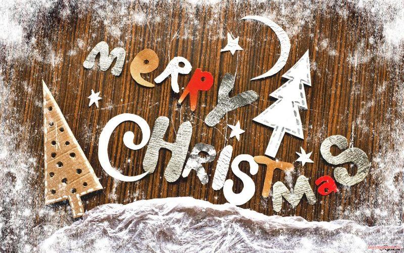 Открытка Merry Christmas. Картинки на Рождество