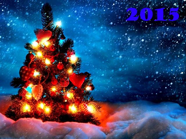Рождественская новогодняя елка 2015