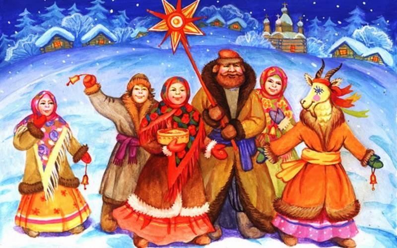 Рождественские колядки картинка. Картинки на Рождество