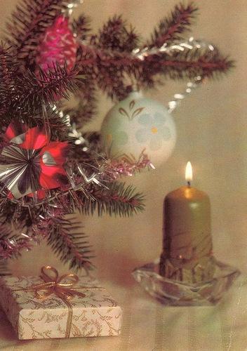 Новогодняя фотокомпозиция Л. Круцко. 1991. Советские новогодние открытки