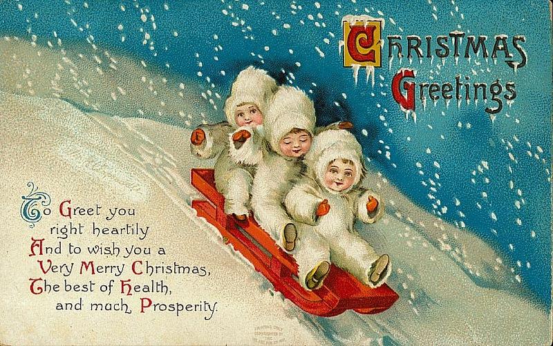 Новогодние и Рождественские открытки
