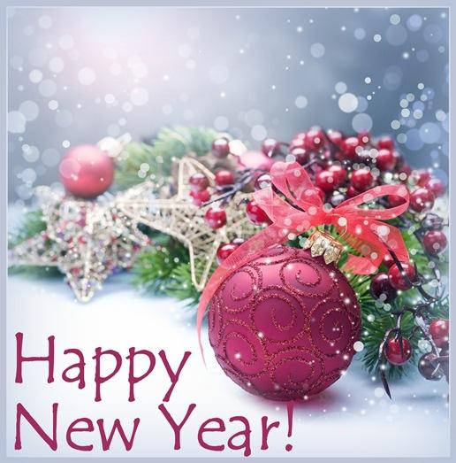 Новогодние открытки с яркими елочными шарами. Открытки картинки с новым годом 2018