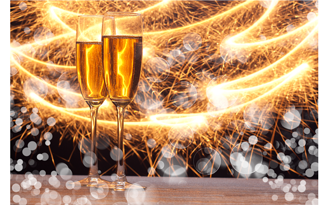 Брызги шампанского на новый год