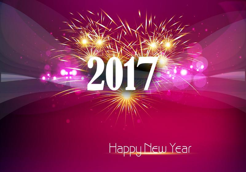 Скачать обои happy new year 2017 на рабочий стол. Новогодние обои на рабочий стол