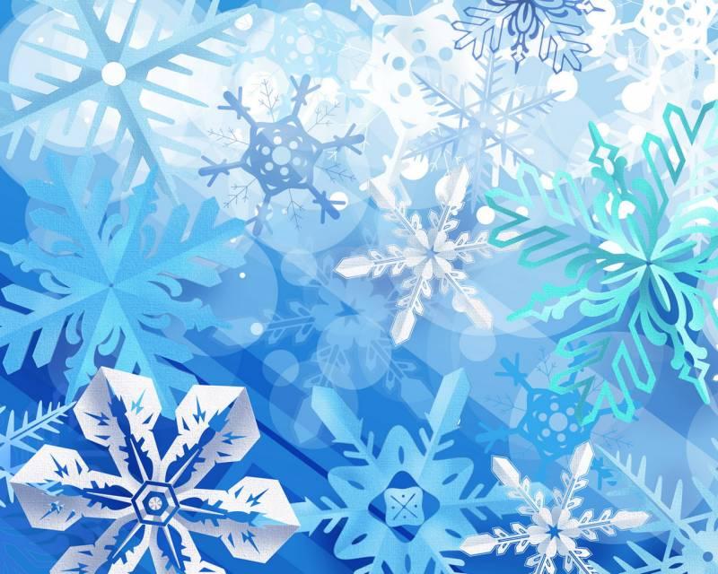 Снежинки новогодние обои на рабочий стол