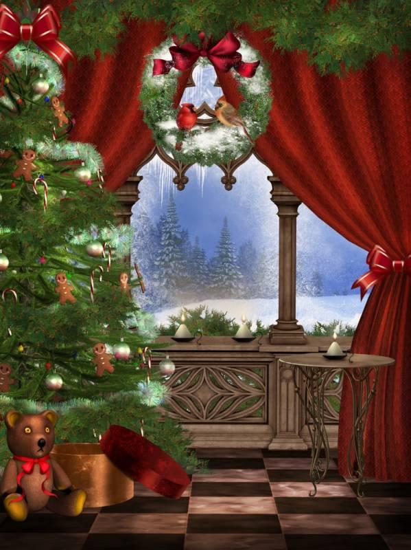 Рождественский фон. Новогодние обои на рабочий стол