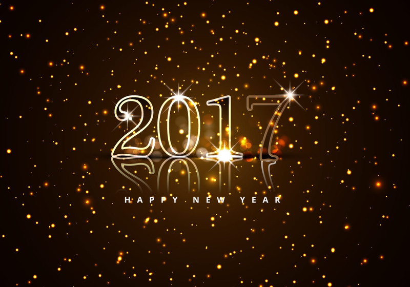 Обои Happy New Year 2017. Новогодние обои на рабочий стол