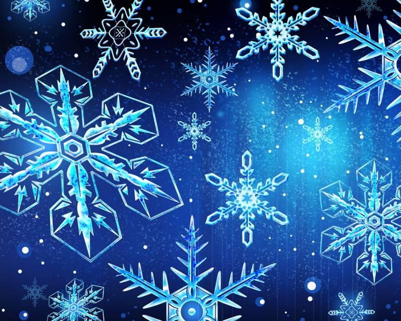 Картинки снежинки на рабочий стол. Новогодние обои на рабочий стол