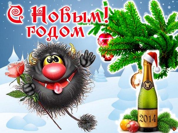 С Новым Годом. Прикольные новогодние картинки
