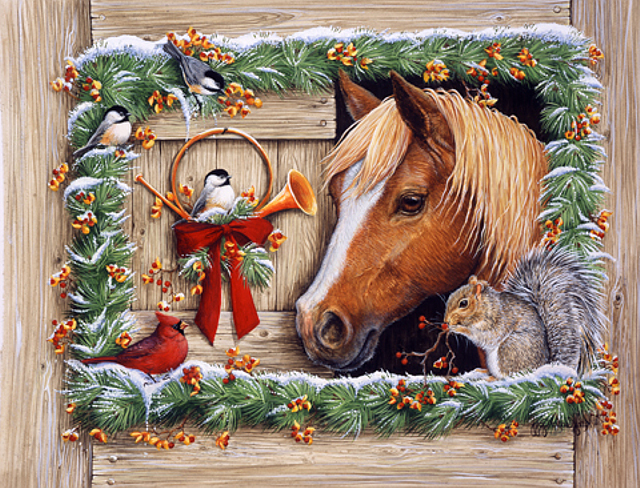Картинки к новому году с лошадью. С Новым Годом лошади