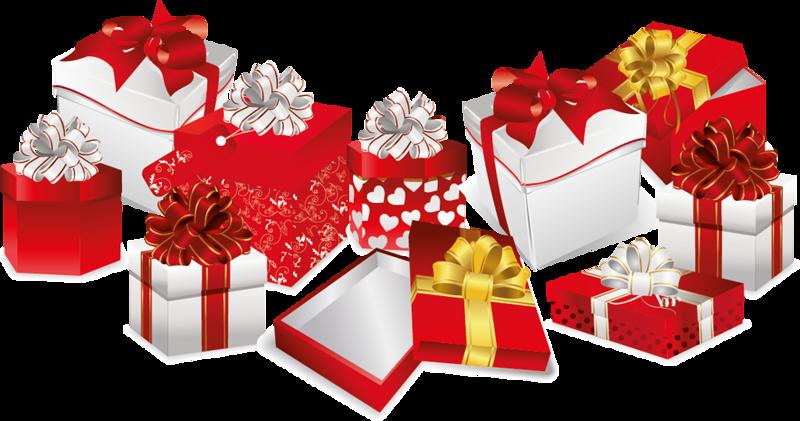 Подарочные коробки. Клипарт новогодний