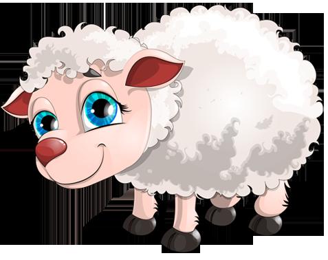 Клипарт с овечкой. Клипарт новогодний