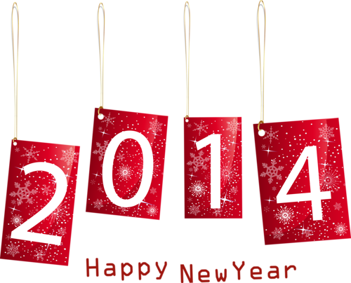 Новогодний клипарт с цыфрами 2014. Клипарт новогодний