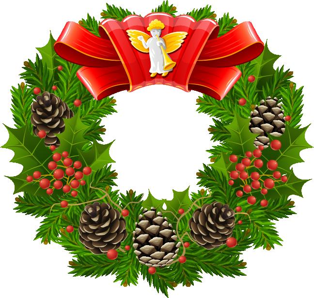 Рождественский венок с шишками