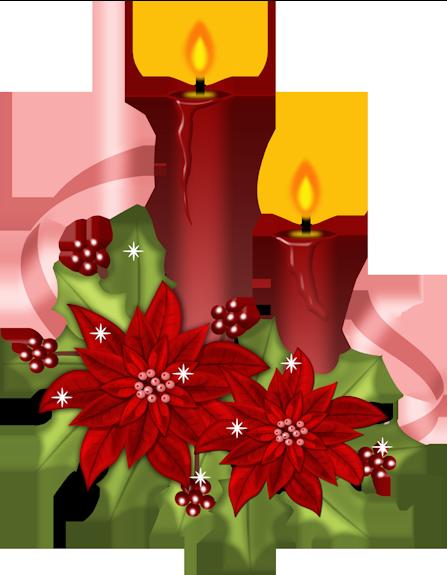 Новогодние свечи. Клипарт новогодний