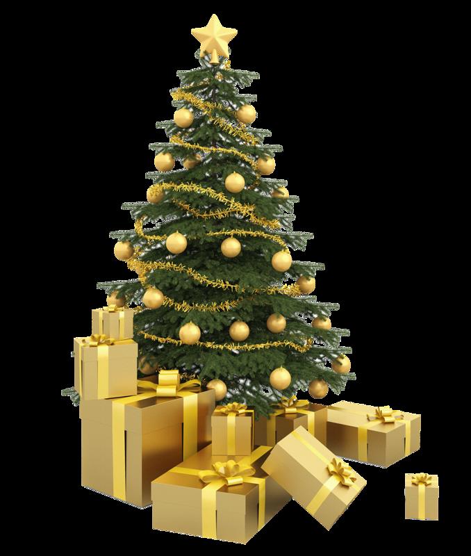 Ёлка с подарками. Клипарт новогодний