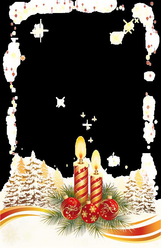 Рождественская рамка со свечами