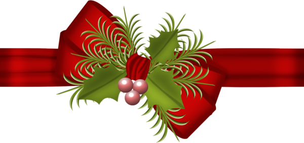 Рождественский бант. Клипарт новогодний