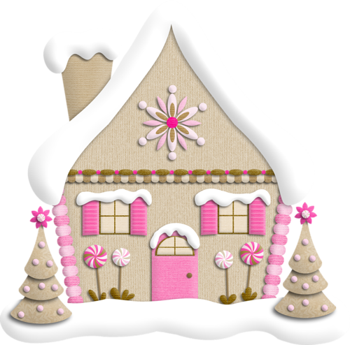 Сказочный домик. Клипарт новогодний