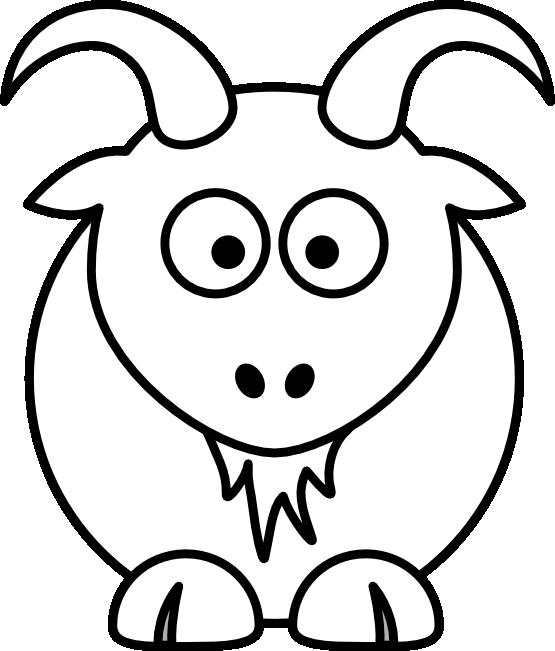 Коза векторный клипарт. Клипарт новогодний