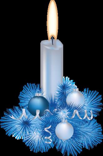 Новогодняя свеча. Клипарт новогодний