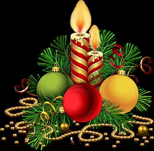 Клипарт - Новогодние свечи. Клипарт новогодний