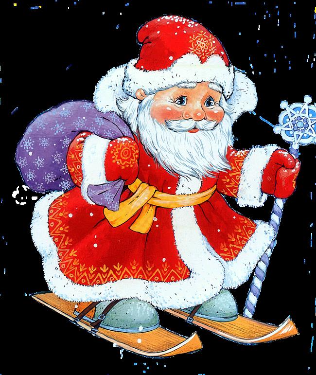 Детское изображение деда мороза. Детские открытки