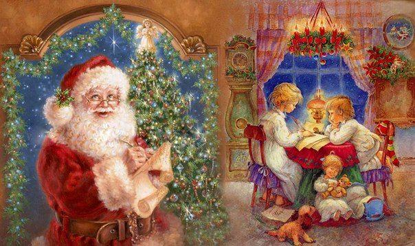 Рождество и Новый год для детей. Детские открытки