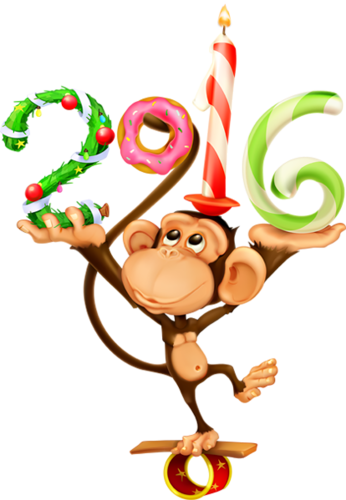 Рисунок обезьянки 2016. Маленькие картинки к Новому году