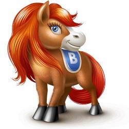 Лошадь вконтакте. Маленькие картинки к Новому году