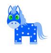 Синяя лошадка. Маленькие картинки к Новому году