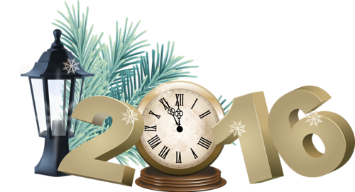 Часы 2016. Новогодние надписи