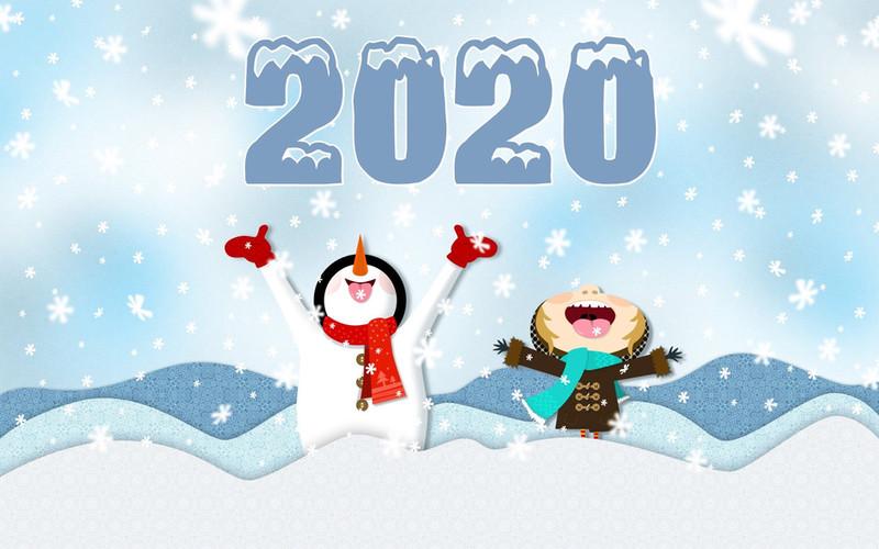 Снеговик 2015. Новогодние надписи 2017