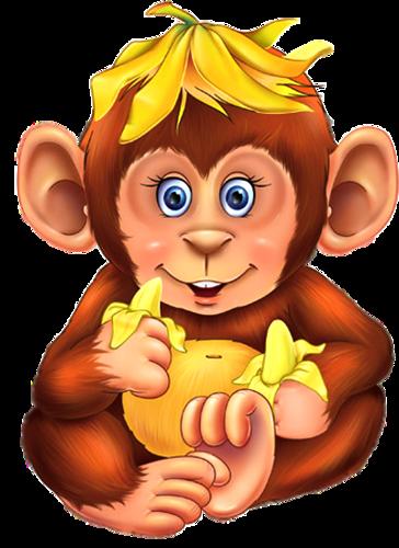Прикольная обезьянка. Картинки с символом 2018 года