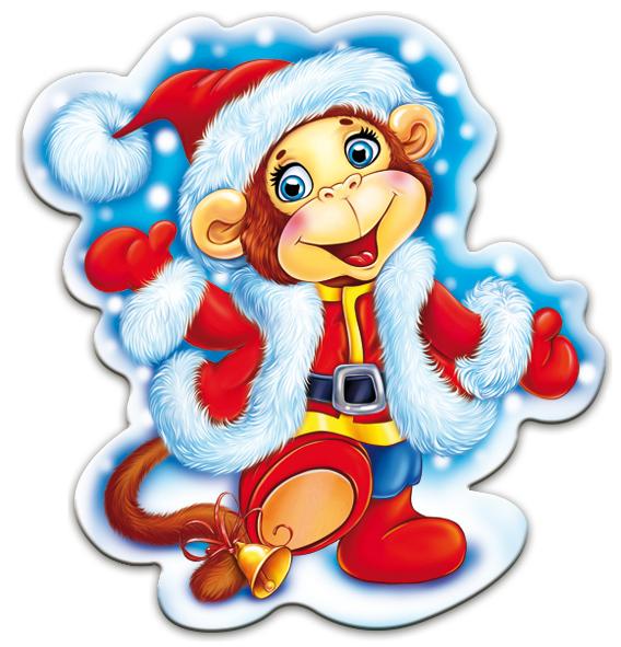 Картинки обезьян в новогодней одежде. Картинки с символом 2018 года