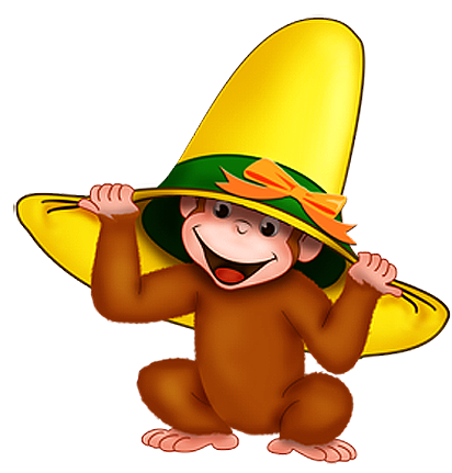 Обезьяна в шляпе картинки. Картинки с символом 2018 года