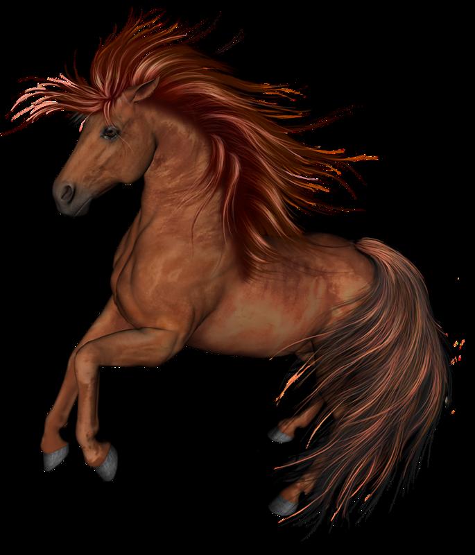 Красивая лошадь. Картинки с символом 2017 года