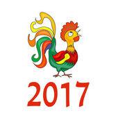 Петушок с годом 2017