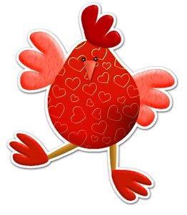 Красный петух. Картинки с символом 2017 года
