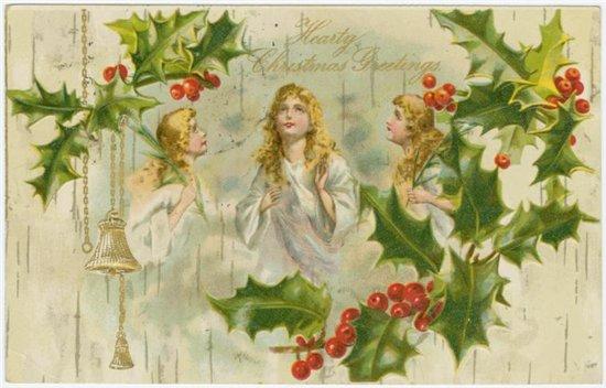 Старые Рождественские открытки. Старинные открытки с Новым годом и Рождеством