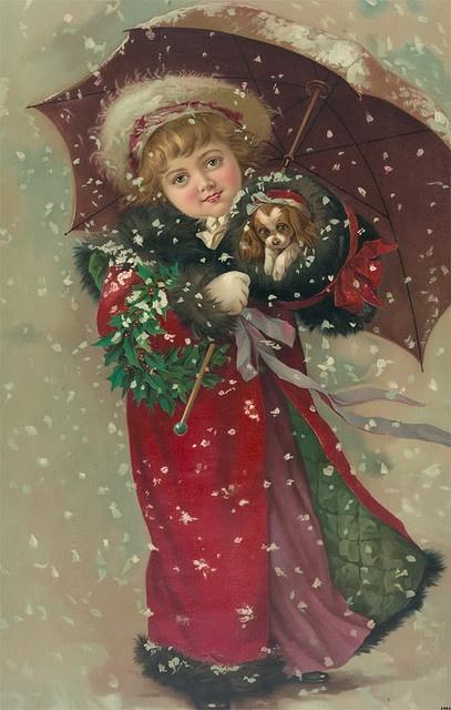 Новогодняя винтажная открытка. Старинные открытки с Новым годом и Рождеством