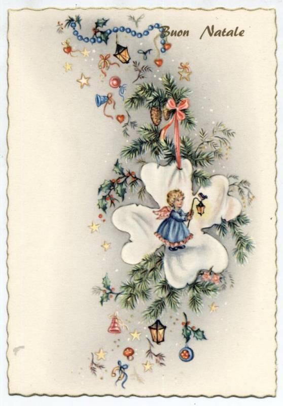 Итальянская винтажная открытка. Старинные открытки с Новым годом и Рождеством
